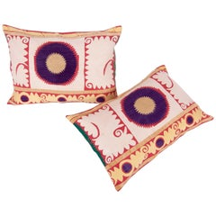 Pillow or Cushion Cases Fashioned from a Midcentury Suzani