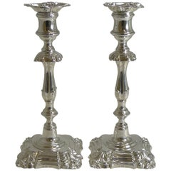 Pair of Antique English Candlesticks by Elkington, 1853