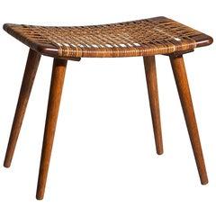 Rare Danish Teak Stool, Hans J. Wegner Style, 1960s
