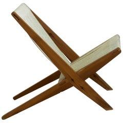 Rare Danish Design Chair in Poul Kjærholm Style, 1960s