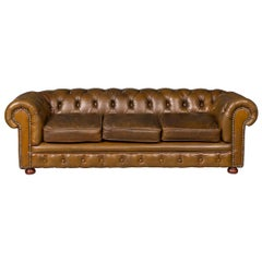 Vintage 20th Century Extremely Rare Miniature Chesterfield Sofa, circa 1950