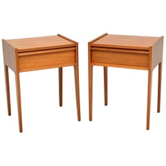 Pair of 1960s Vintage Walnut Bedside Tables by Younger