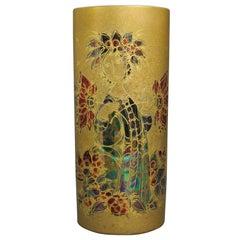 Rare Rosenthal Studio Hand Painted Gilded Vase by Bjorn Winnblad, 1960s
