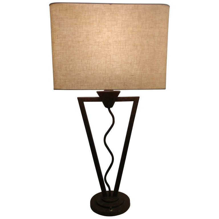 Unique Postmodern Memphis Style Table Lamp Offered by La Porte For Sale