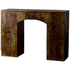 Sideboard Desk Rustic 19th Century Swedish Green Marbled, Sweden