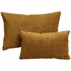 Scandinavian Modern Gold Rectangular Pillows