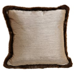 Silk and Fur Anglo-Japanese Pillow
