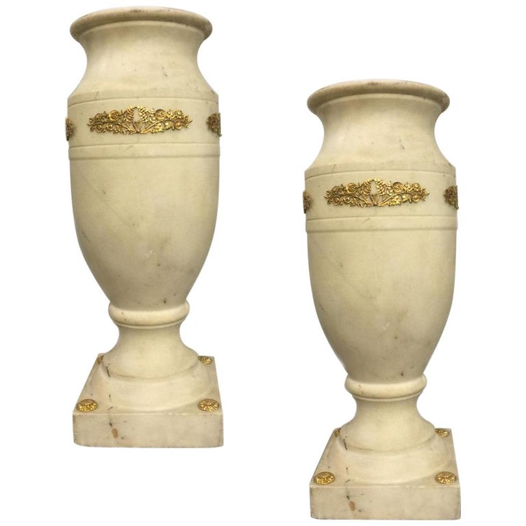 19th Century Empire Marble Vase For Sale