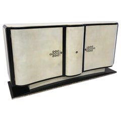 20th Century French Art Deco Parchment Sideboard