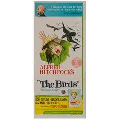 """The Birds"" Vintage Australian Daybill Movie Poster, 1963"