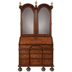 Very Fine George I Bureau Bookcase Attributed to Peter Miller