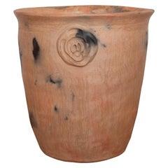 Mexican Clay Pot Folk Art Oaxaca Handmade Ceramic Planter Terracotta Rustic