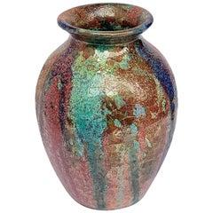 Ceramic Vase Sardinian Polychrome Ceramics by Claudio Pulli, Italy, 1970s