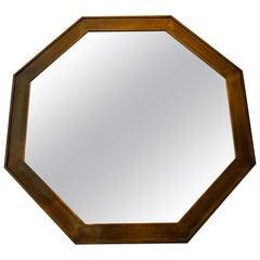Octagonal Patinated Surround Mirror, by Mastercraft