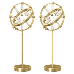 Pair of Globo Table Lamps, Large