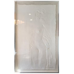 "Contemporary Art Frank Gallo ""The Dancer"" 1978 Framed Cast Paper Original"