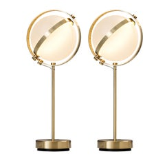 Pair of Vega Table Lamps, Large