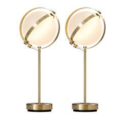 Paar Vega Tischlampen, Groß