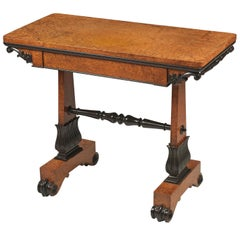 Regency Amboyna and Ebony Card Table Attributed to Seddon Sons and Shackleton