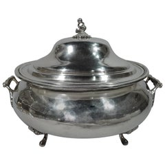 Large Antique South American Silver Covered Tureen