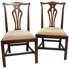 Pair of 18th Century George III Mahogany Side Chairs