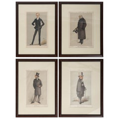 Set of Four 19th Century Framed Vanity Fair Caricatures