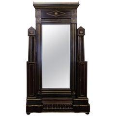Antique Russian Cheval Mirror