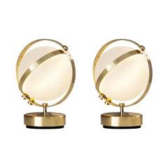 Pair of Vega Table Lamps, Small