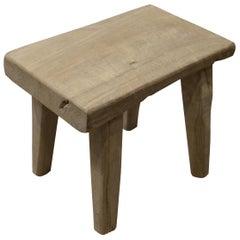 Andrianna Shamaris St. Barts Teak Wood Side Table or Stool