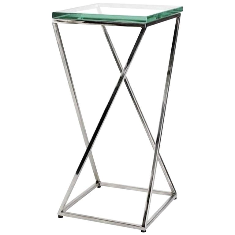 Contemporary Square Glass Top Cocktail Table For Sale At