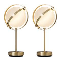 Pair of Vega Table Lamps, Medium