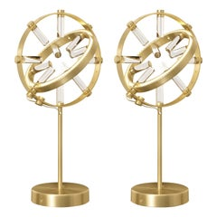 Pair of Globo Table Lamps, Medium