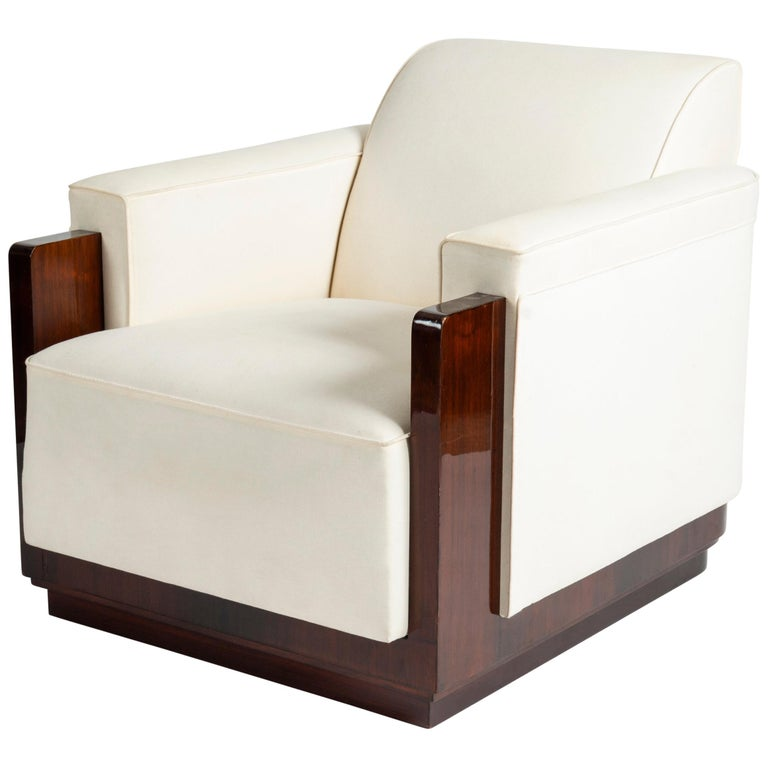 Jules Cayette, Large and Unusual Art Deco Club Chair, France, circa 1930 For Sale