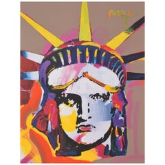 Peter Max Statue of Liberty Mixed-Media