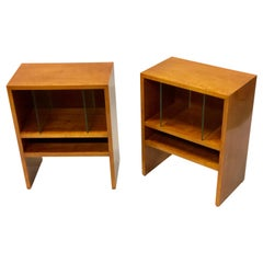Pair of Italian Rationalist Nightstands or End Tables by Terragni, 1930