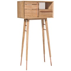 Galgo Contemporary Cabinet in Brazilian Hardwood by Knót Artesanal