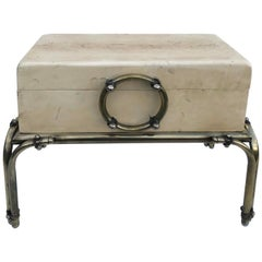 Small Karl Springer Style Chest on Stand