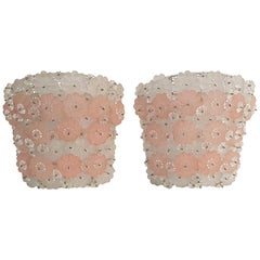Pair of Flower Wall Sconces Murano, 1950s