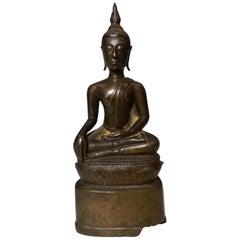 Northern Thai Lanna Period Bronze Buddha, circa 18th Century