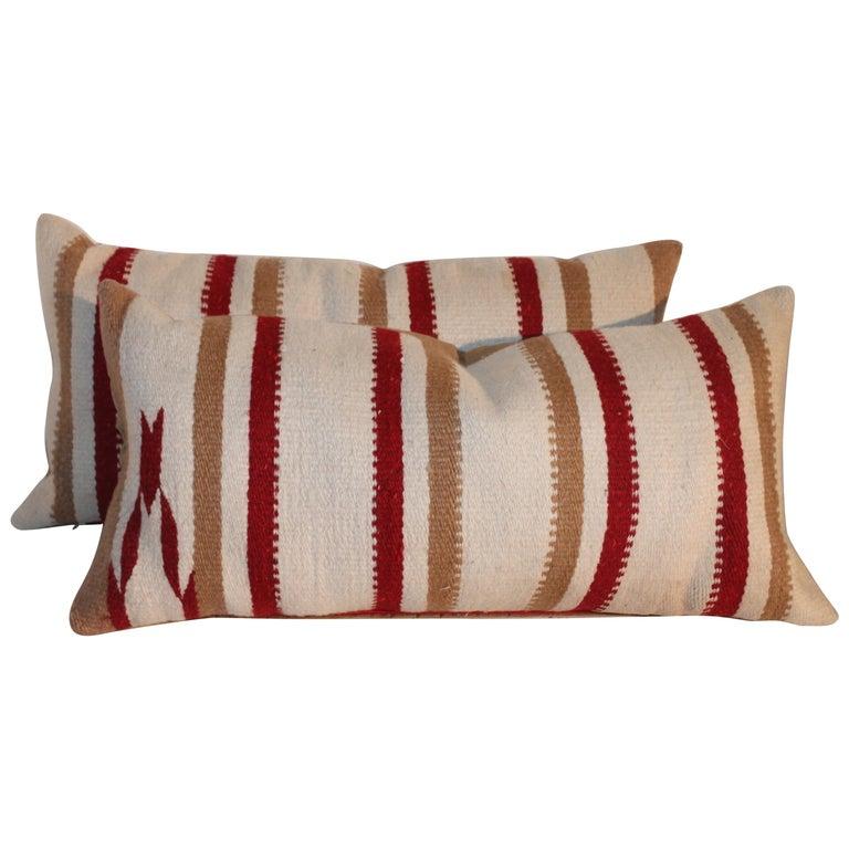 Navajo Saddle Blanket Pillows, Pair For Sale