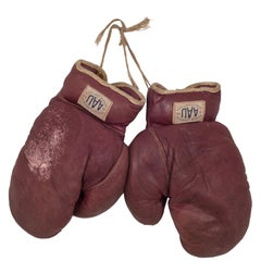 A.A.U. Leather Boxing Gloves, circa 1930