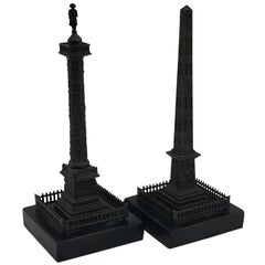 Grand Tour Models of Trajan's Column & Cleopatra's Needle, a Pair
