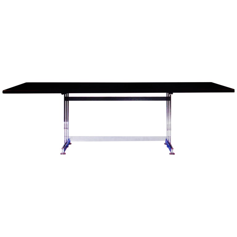 Dining or Desk Table with a Palisander Top by Jules Wabbes, Belgium, 1960 1