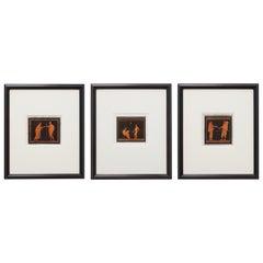 Trio of English William Hamilton Neoclassical Engravings