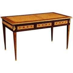 19th Century Rosewood and Palisander Wood and Gilt Bronzes French Writing Desk