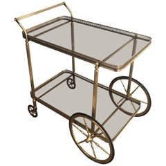 Neoclassical Brass Trolley, French, circa 1940