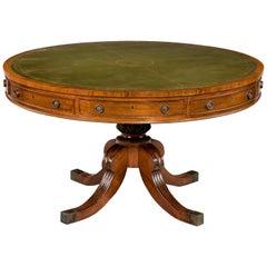 Regency Period Mahogany Drum Table