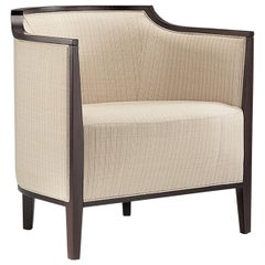 Villa Lounge Armchair Beechwood Various Colors, Leather or 100 % New Wool, Wood