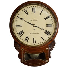 Regency Convex Dial Wall Clock by Grant, Portsmouth