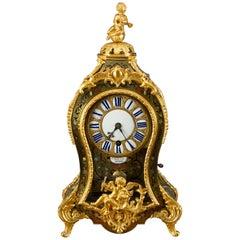 Louis XV Tortoiseshell Boulle Clock by St Martin, Paris, circa 1720